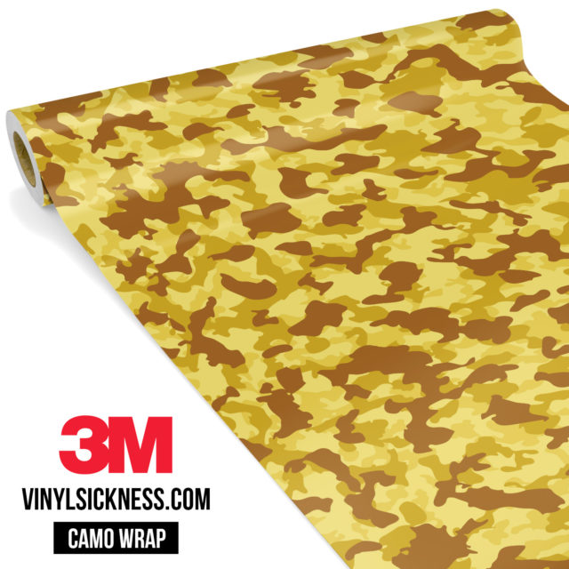 Flaxen Yellow Camo Small Vinyl Wrap Main