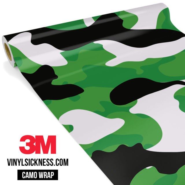Forest Green Camo Large Vinyl Wrap Main