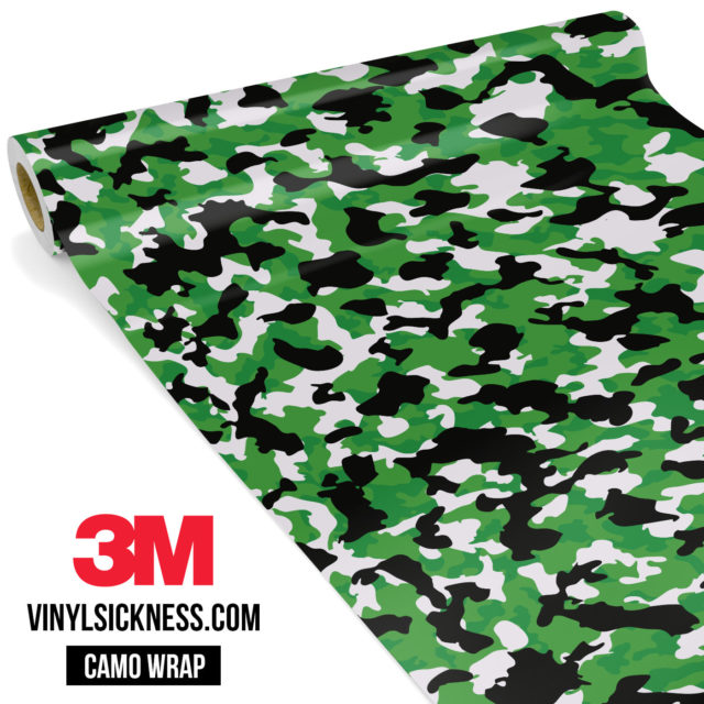 Forest Green Camo Small Vinyl Wrap Main