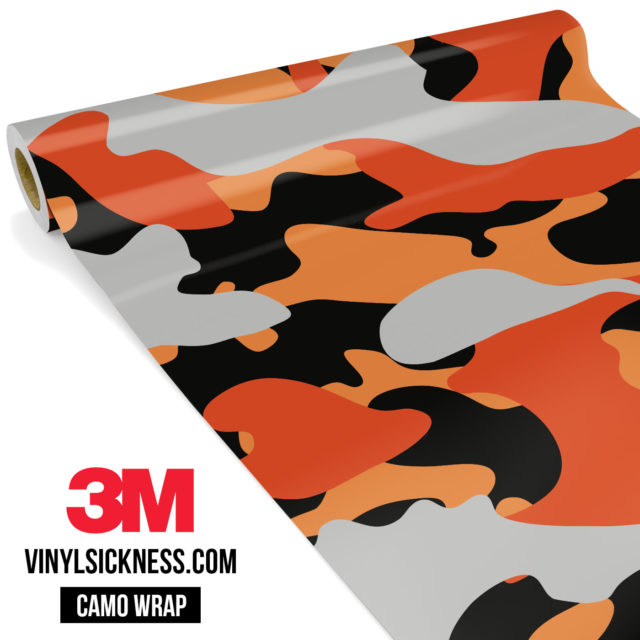 Fossil Orange Camo Large Vinyl Wrap Main