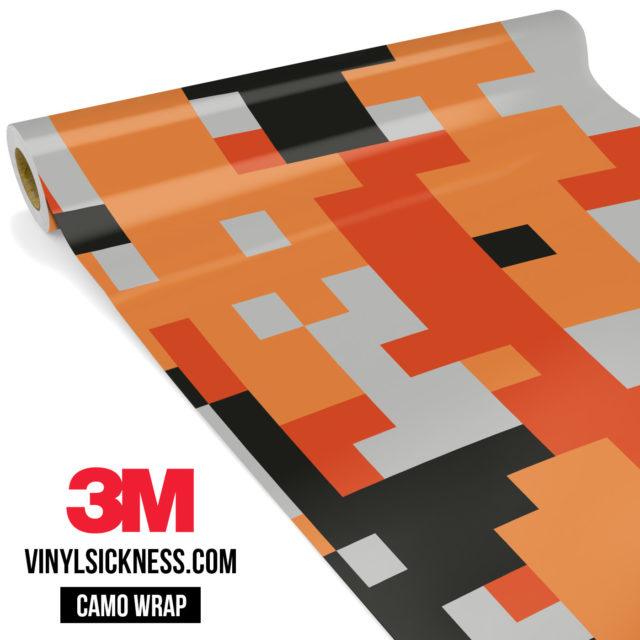 Fossil Orange Digital Camo Large Vinyl Wrap Main