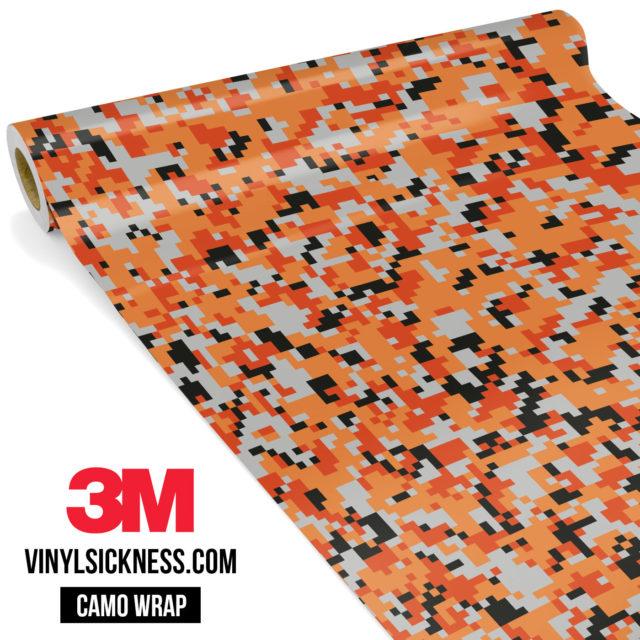 Fossil Orange Digital Camo Small Vinyl Wrap Main