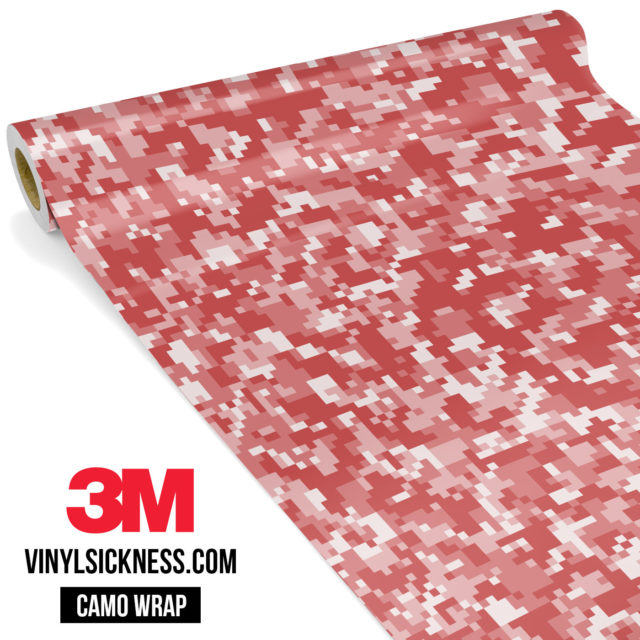 French Rose Digital Camo Small Vinyl Wrap Main
