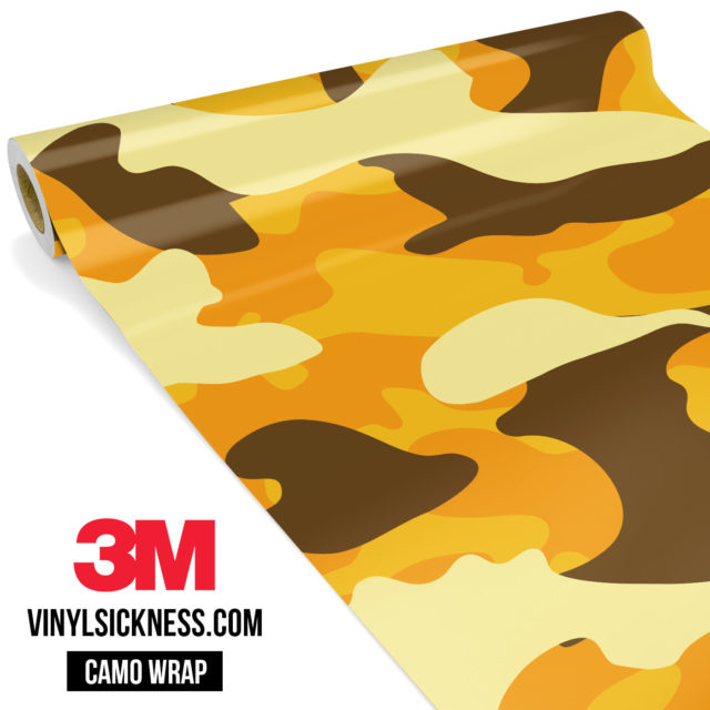 Golden Rod Camo Large Vinyl Wrap Main