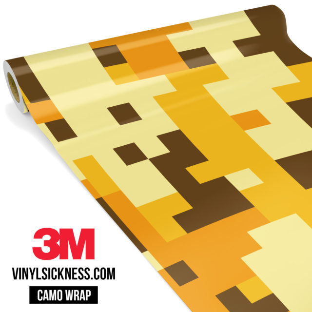 Golden Rod Digital Camo Large Vinyl Wrap Main