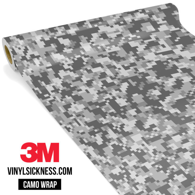 Grey Gainsboro Digital Camo Small Vinyl Wrap Main