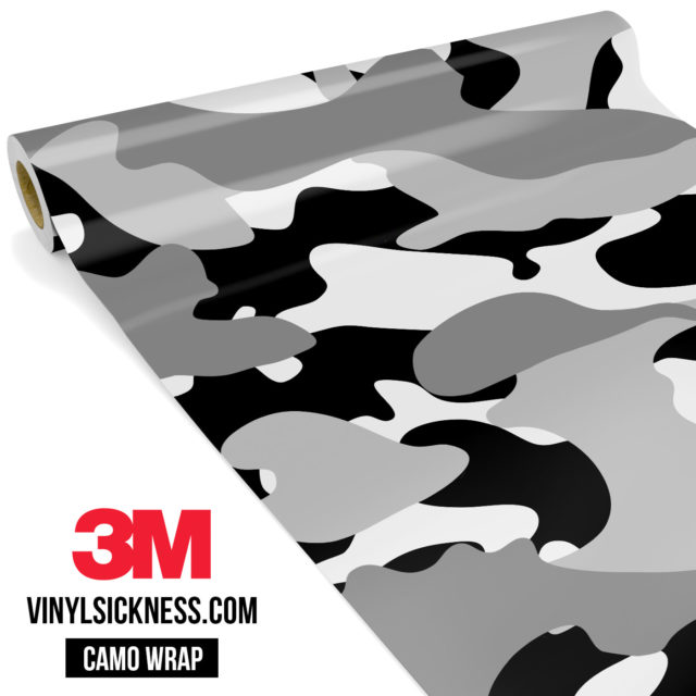 Grey Pewter Camo Large Vinyl Wrap Main