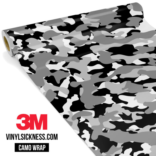Grey Pewter Camo Regular Vinyl Wrap Main
