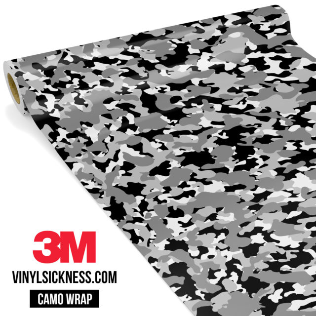 Grey Pewter Camo Small Vinyl Wrap Main