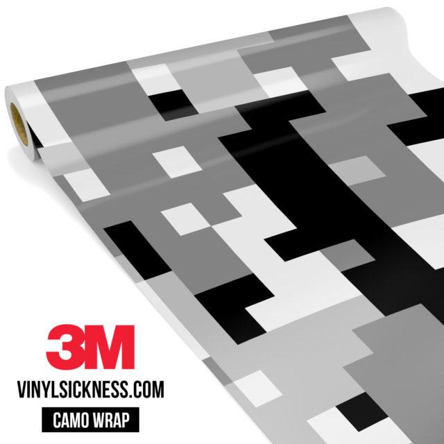 Grey Pewter Digital Camo Large Vinyl Wrap Main