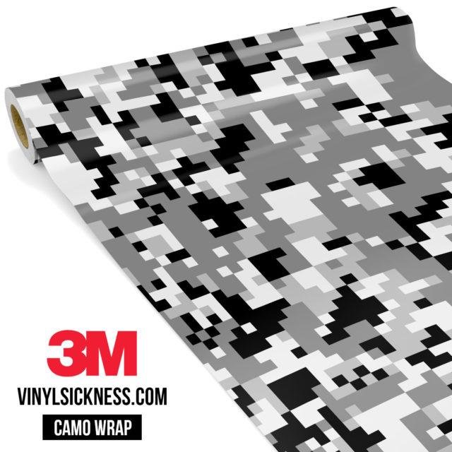 Grey Pewter Digital Camo Regular Vinyl Wrap Main