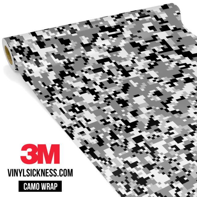 Grey Pewter Digital Camo Small Vinyl Wrap Main