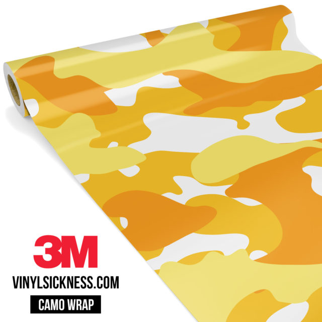 Honey Yellow Camo Large Vinyl Wrap Main