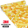 Honey Yellow Camo Regular Vinyl Wrap Main