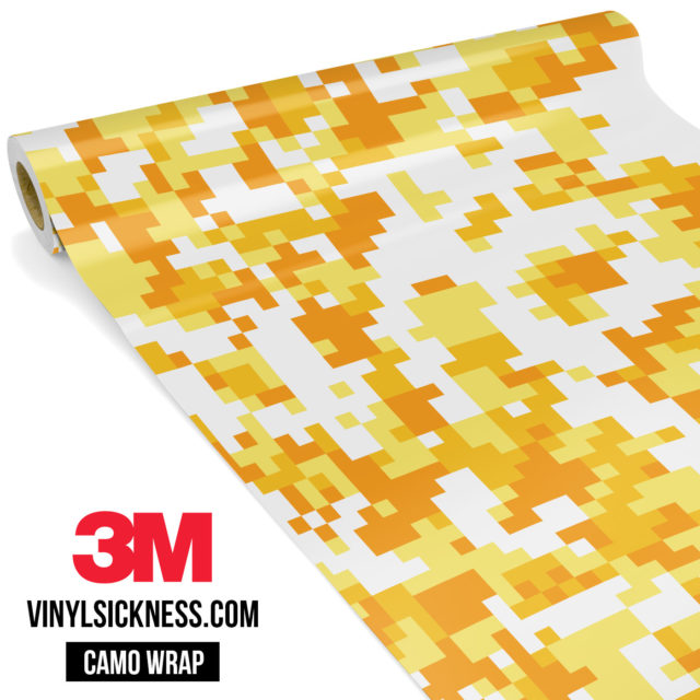 Honey Yellow Digital Camo Regular Vinyl Wrap Main