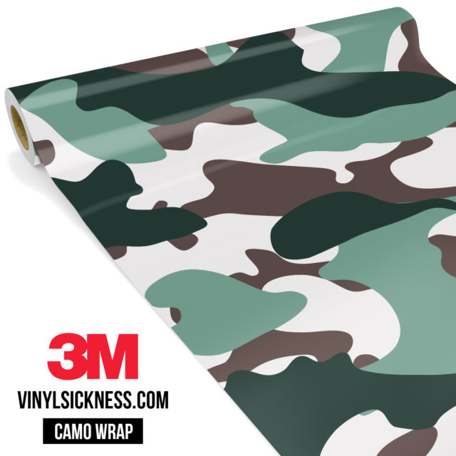 Hunter Green Camo Large Vinyl Wrap Main