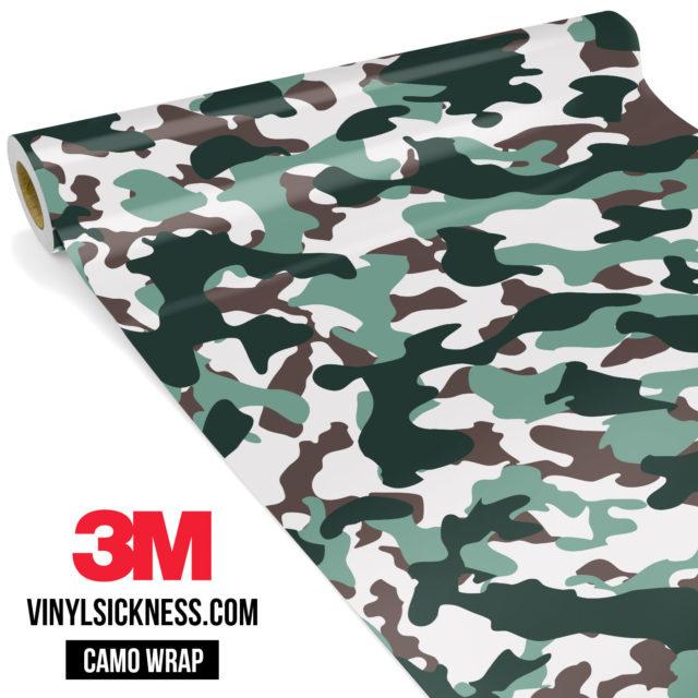 Hunter Green Camo Regular Vinyl Wrap Main