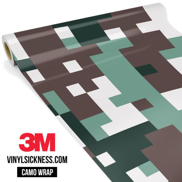 Hunter Green Digital Camo Large Vinyl Wrap Main