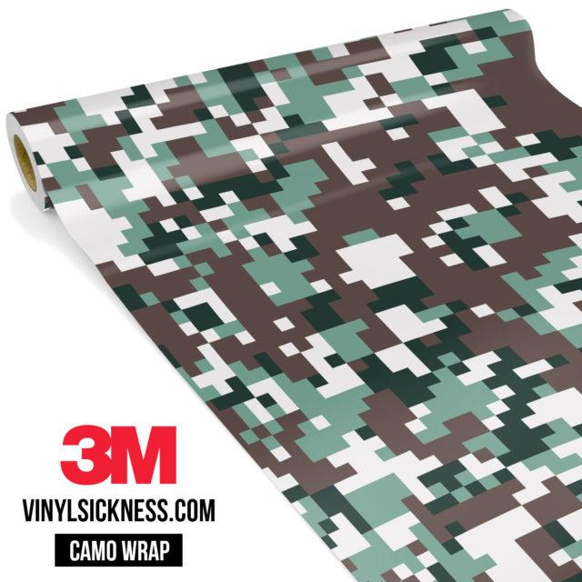 Hunter Green Digital Camo Regular Vinyl Wrap Main