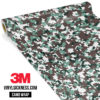 Hunter Green Digital Camo Small Vinyl Wrap Main