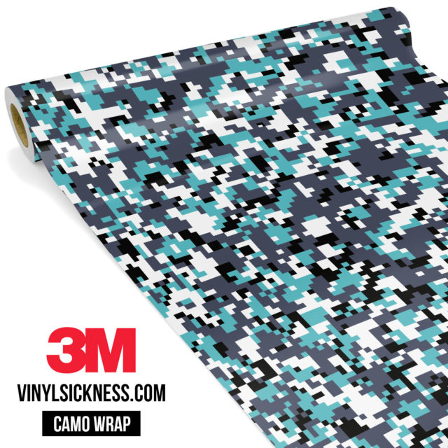 Hunter Mint Digital Camo Small Vinyl Wrap Main