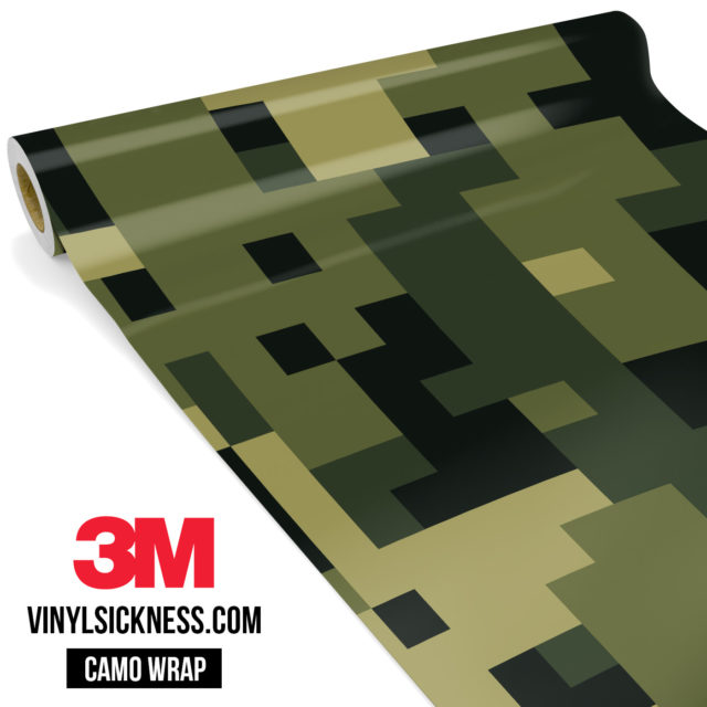 Intense Jungle Digital Camo Large Vinyl Wrap Main