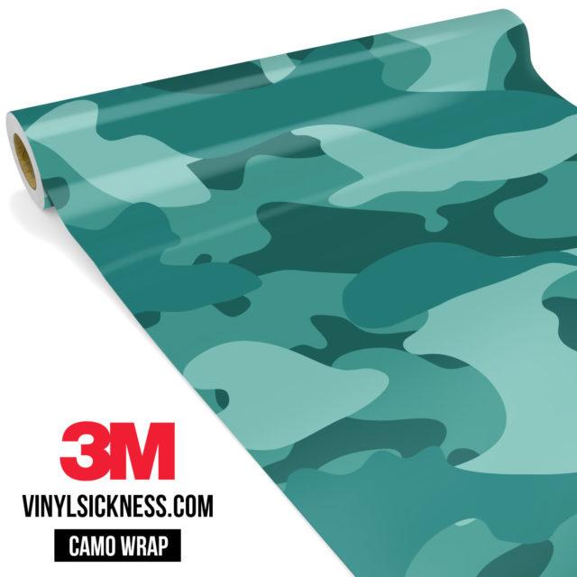 Intense Sea Green Camo Large Vinyl Wrap Main