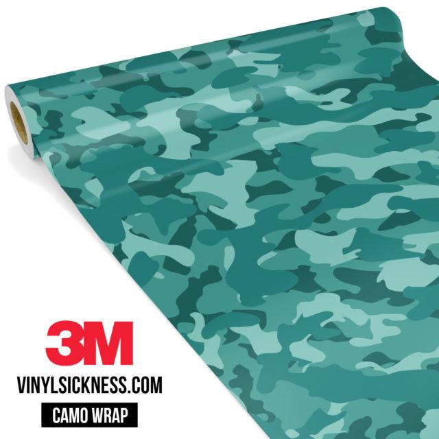 Intense Sea Green Camo Regular Vinyl Wrap Main