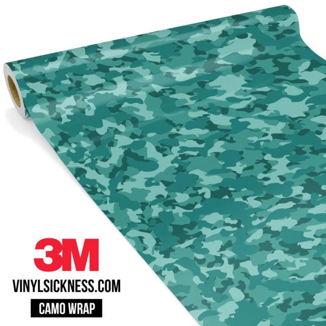 Intense Sea Green Camo Small Vinyl Wrap Main