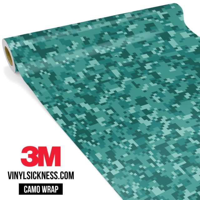 Intense Sea Green Digital Camo Small Vinyl Wrap Main