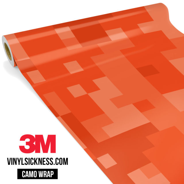 Intense Tangerine Digital Camo Large Vinyl Wrap Main
