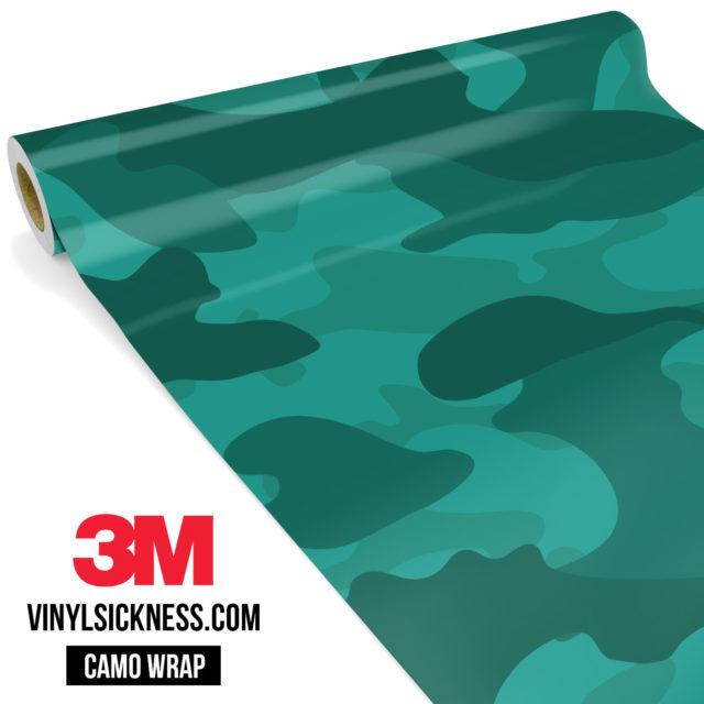 Intense Viridian Camo Large Vinyl Wrap Main