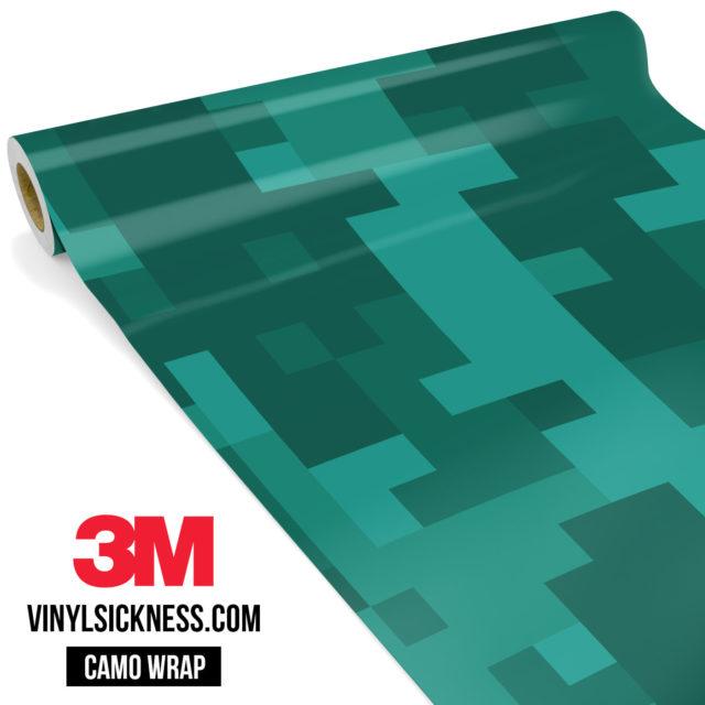 Intense Viridian Digital Camo Large Vinyl Wrap Main