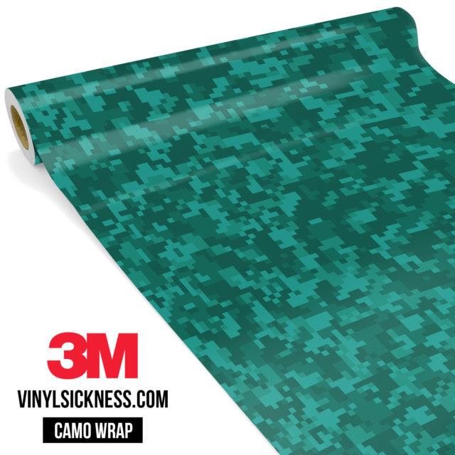 Intense Viridian Digital Camo Small Vinyl Wrap Main