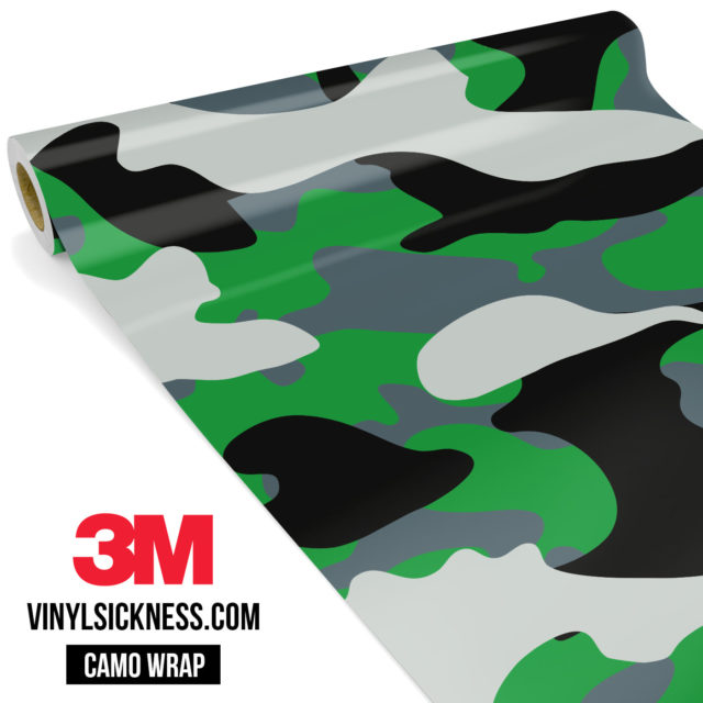 Iron Green Camo Large Vinyl Wrap Main