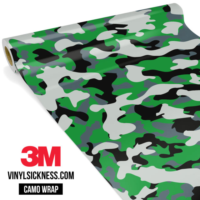 Iron Green Camo Regular Vinyl Wrap Main