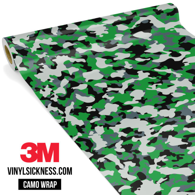 Iron Green Camo Small Vinyl Wrap Main