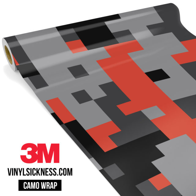 Iron Orange Digital Camo Large Vinyl Wrap Main