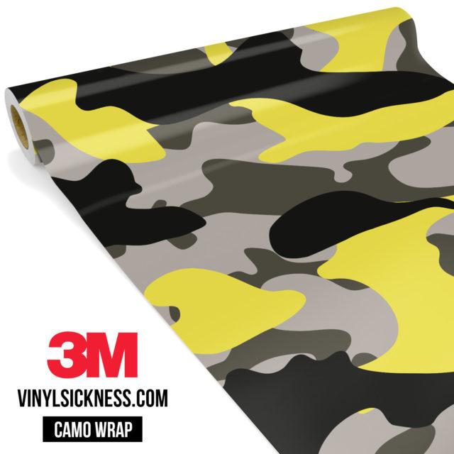 Iron Yellow Camo Large Vinyl Wrap Main