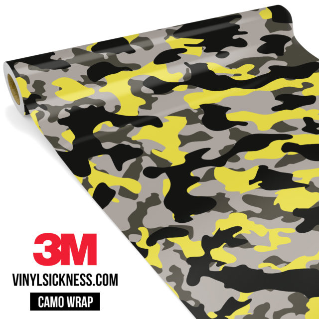 Iron Yellow Camo Regular Vinyl Wrap Main