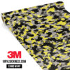 Iron Yellow Camo Small Vinyl Wrap Main