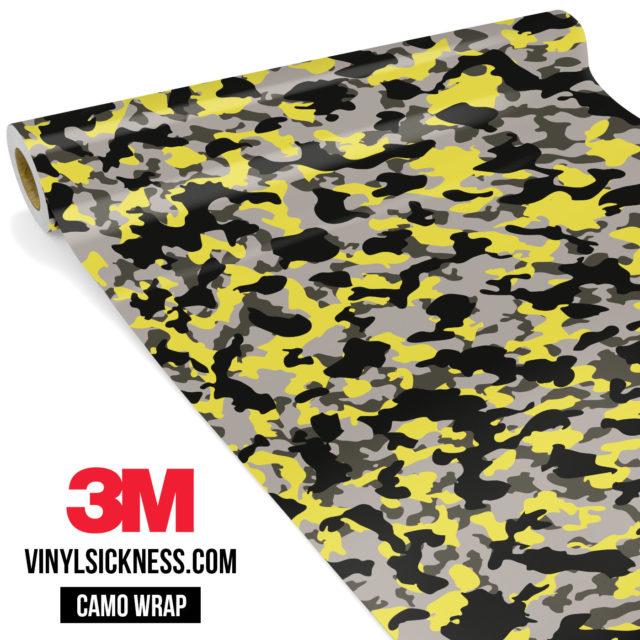 Iron Yellow Camo Small Vinyl Wrap Main