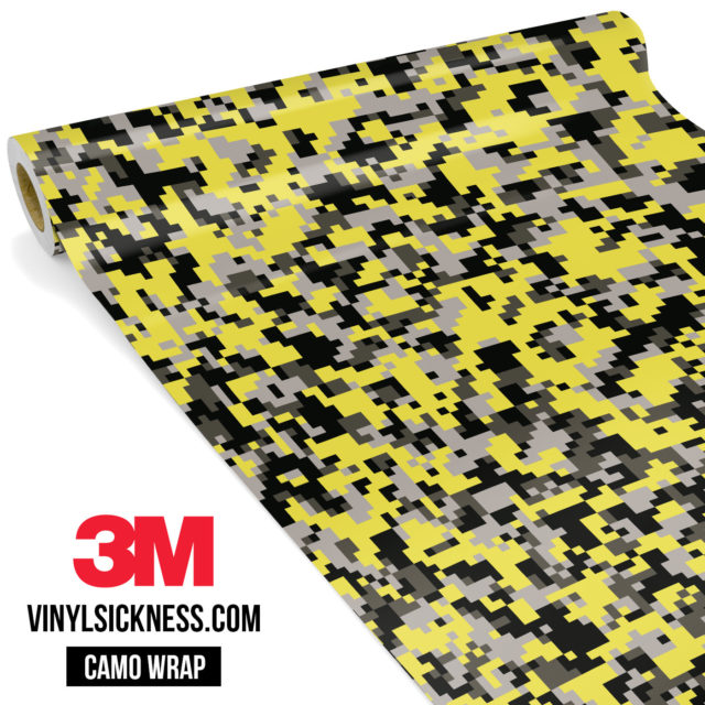 Iron Yellow Digital Camo Small Vinyl Wrap Main