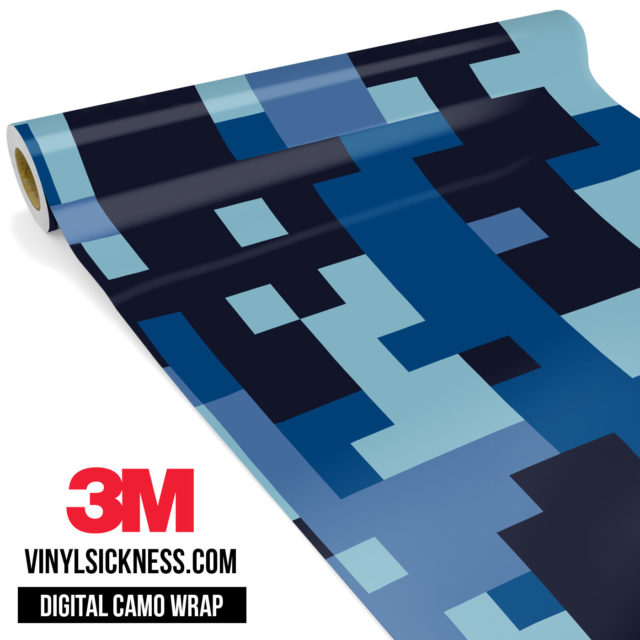 Jdm Digital Camo Blue Night Vinyl Wrap Large