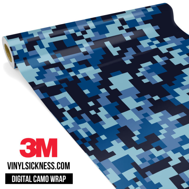 Jdm Digital Camo Blue Night Vinyl Wrap Regular