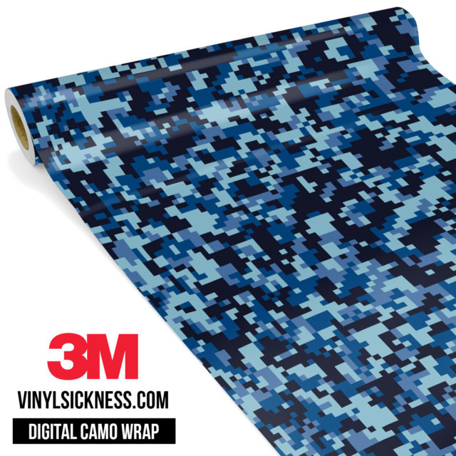 Jdm Digital Camo Blue Night Vinyl Wrap Small