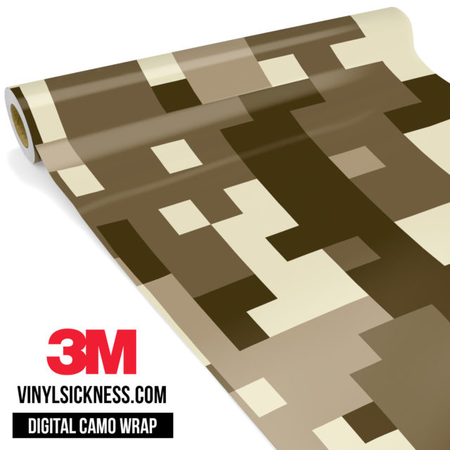 Jdm Digital Camo Desert Vinyl Wrap Large