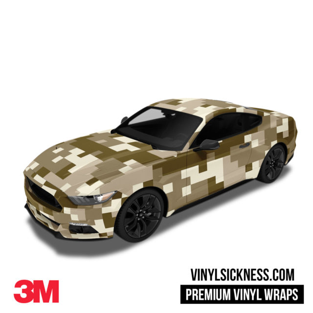 Jdm Digital Camo Desert Vinyl Wrap Large Car