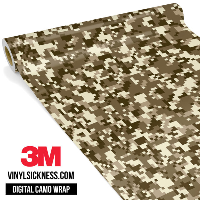 Jdm Digital Camo Desert Vinyl Wrap Small