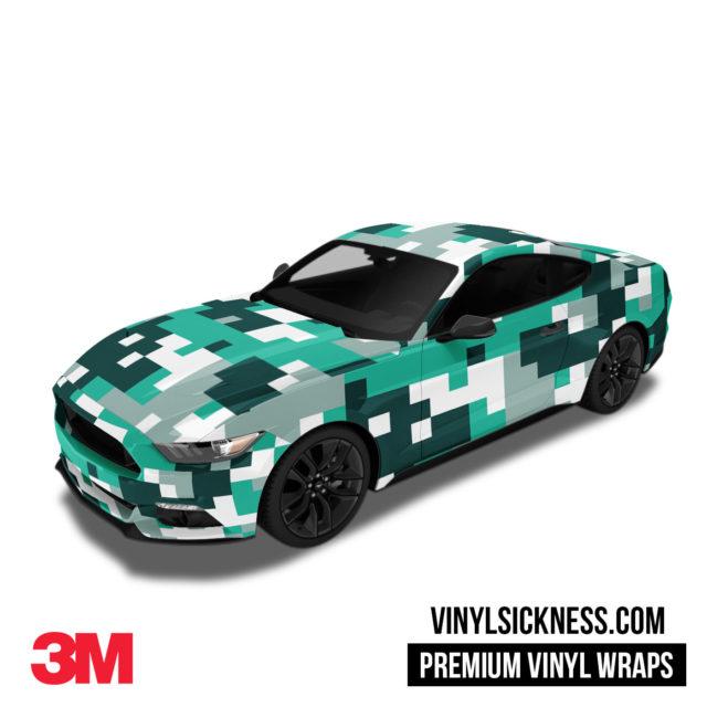 Jdm Digital Camo Ice Vinyl Wrap Large Car